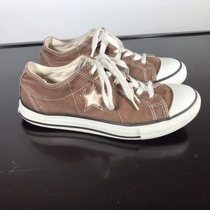Converse One Star brown Canvas Sneakers Sz 7